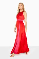 Little Mistress Charlotte Colour Block Satin Maxi Dress