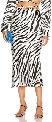 CHRISTOPHER ESBER Wrapped Tie Skirt in Brushed Zebra | FWRD