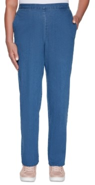 Alfred Dunner Petite Pearls Of Wisdom 2019 Pull-On Jeans