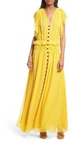 The Kooples Women's Ruffle Silk Maxi Dress