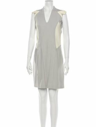 Helmut Lang Lamb Leather Mini Dress Grey