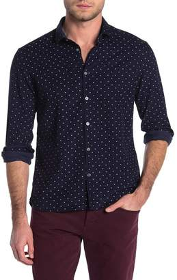 John Varvatos Ross Star Dot Print Regular Fit Shirt