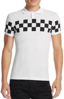 DSQUARED2 Checkerboard Piqué Slim Fit Polo Shirt