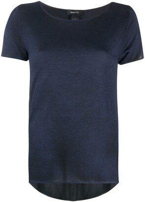 Avant Toi fine-knit scoop-neck T-Shirt