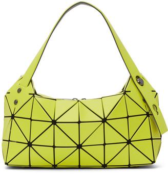 Bao Bao Issey Miyake Yellow Matte Boston Top Handle Bag