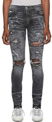 Amiri Grey Paint Splatter Jeans