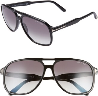 Tom Ford Raoul 62mm Gradient Navigator Sunglasses