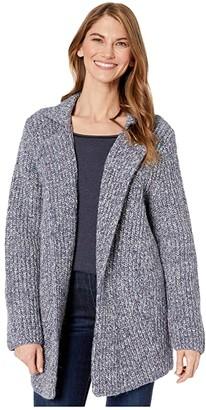 Nic+Zoe Petite Bundle Up Cardy (Blue Mix) Women's Sweater