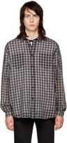 Saint Laurent Black and White Check Shirt