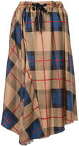 ASTRAET checked pleated skirt