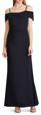 Lauren Ralph Lauren Off-The-Shoulder Beaded Gown
