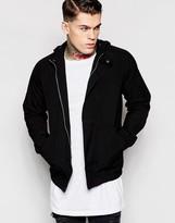 Asos Hooded Jacket In Black - Black