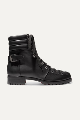 Christian Louboutin Who Runs Leather Ankle Boots - Black