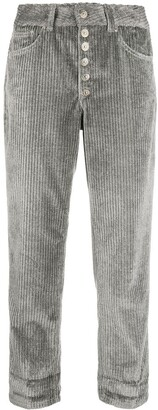 Dondup High-Rise Cropped Corduroy Trousers
