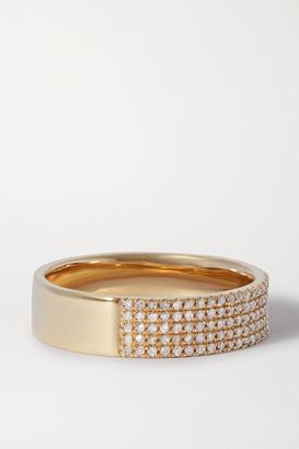 STONE AND STRAND Glamorous 10-karat Gold Diamond Ring - 5