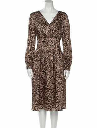 Donna Karan Animal Print Midi Length Dress w/ Tags