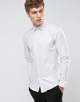 Reiss Long Sleeve Shirt In Melange