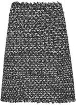 Giambattista Valli Sequin-embellished Frayed Tweed Mini Skirt - Black