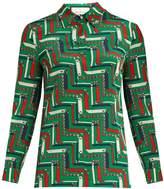 Gucci Chain-print silk crepe de Chine blouse