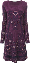 Alberta Ferretti long-sleeved patterned dress