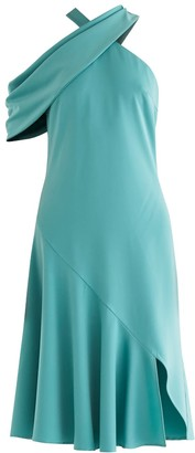 Paisie Love Shawl Dress In Teal