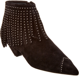 Saint Laurent Blaze Laced Suede Bootie