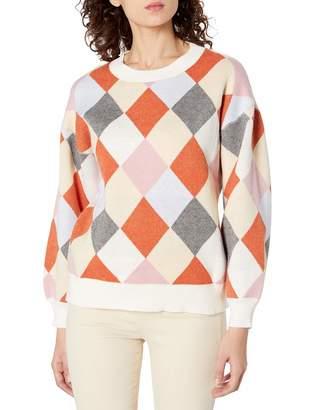 J.o.a. Women's Color Block Argyle Diamond Knit Sweater