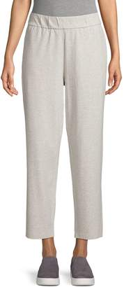 Eileen Fisher Cotton-Blend Ankle-Length Pants