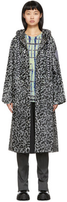 Proenza Schouler Black PSWL Notebook Print Rain Coat