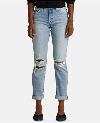 Silver Jeans Co. Not Your Boyfriend Ripped Jeans