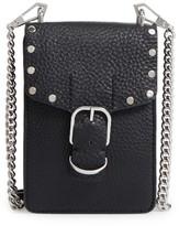Rebecca Minkoff Biker Phone Leather Crossbody Bag - Black