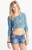 Truehitt Cable Crop Sweater (Juniors)