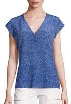 Joie Rubina Dotted Printed Silk Top