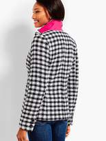 Talbots Checked Blazer