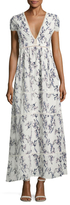 Lucca Couture Ladder Trim Tiered Maxi Dress