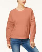Hippie Rose Juniors' Mesh-Trimmed Pullover Sweatshirt