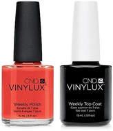 CND Creative Nail Design Vinylux Electric Orange Nail Polish & Top Coat (Two Items), 0.5-oz, from Purebeauty Salon & Spa