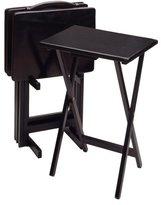 Winsome Wood 5-Piece TV Table Set, Black