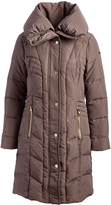Kenneth Cole Thistle Button-Front Down Puffer Coat
