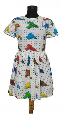 Jeremy Scott Multicolour Cotton Dresses