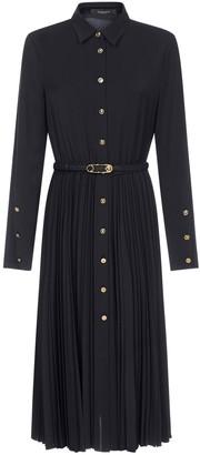 Versace Belted Chemisier Midi Dress