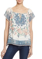Joie Taj Printed Silk Top