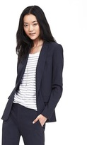 Banana Republic Navy Lightweight Wool Blazer