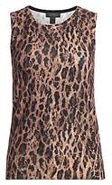 Saks Fifth Avenue Women's COLLECTION Leopard-Print Cashmere Shell Top