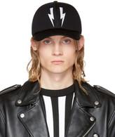 Neil Barrett Black Neoprene Thunderbolt Cap