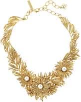 Oscar de la Renta Gold Pearl Burst Necklace