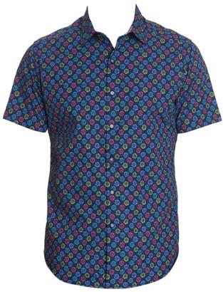 Robert Graham Gearbox Printed Sport Shirt