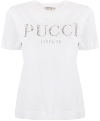 Emilio Pucci strass logo T-shirt