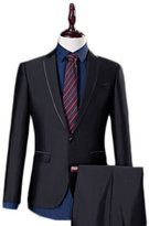 AK Beauty Men's Two-Piece Classic Fit Suit with One-Button Jacket and Pants XXXXL