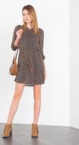 Esprit OUTLET flowing printed dress + tie-around belt